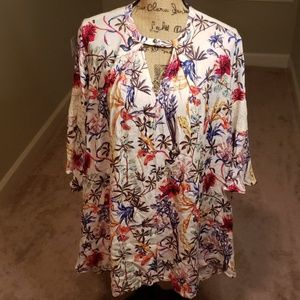 Umgee floral keyhole dress/tunic